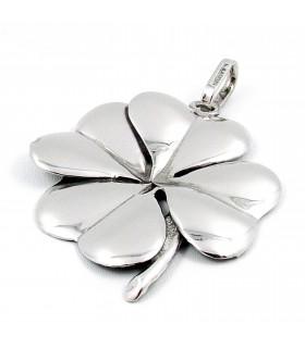 giovanni raspini charm quadrifoglio grande argento 6887