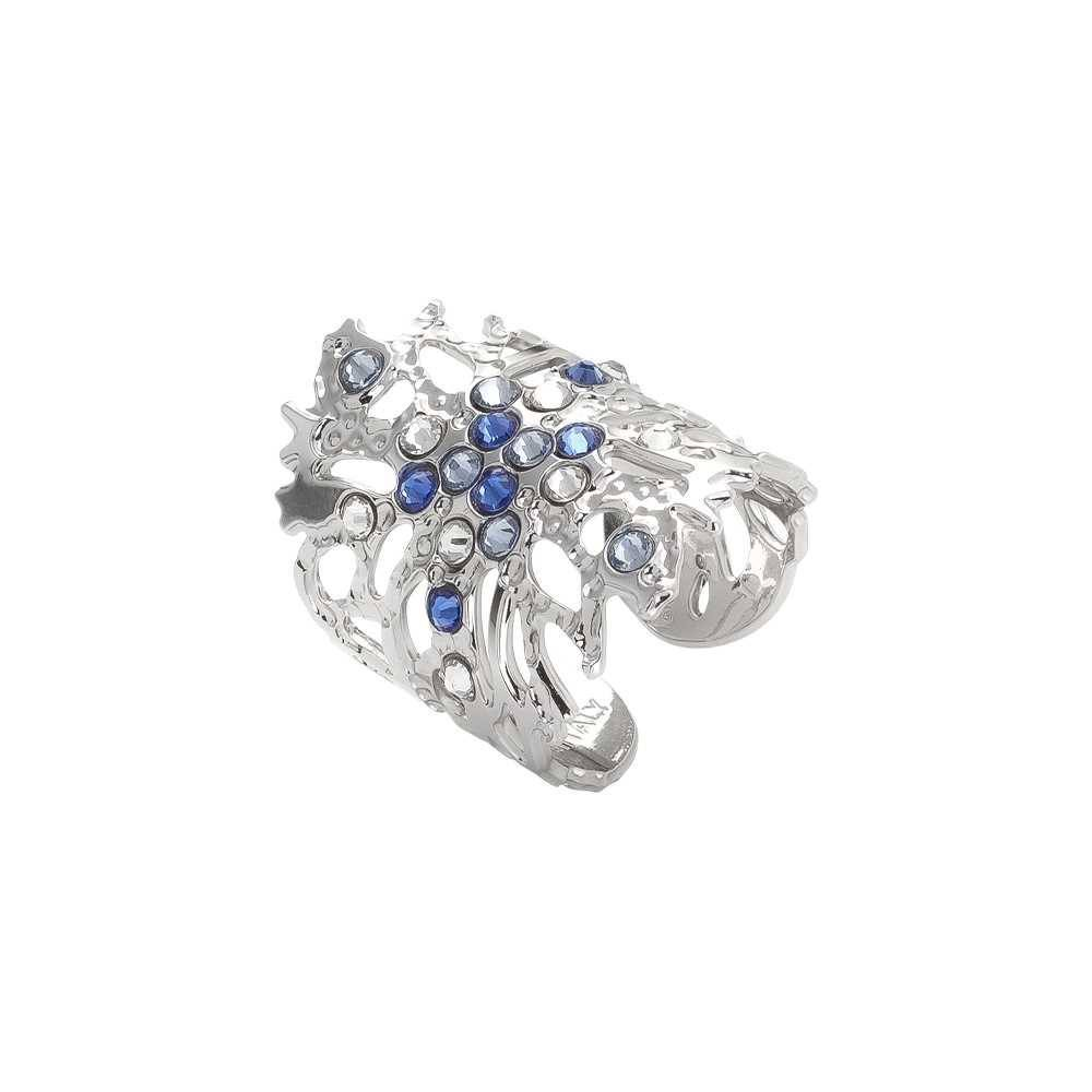 Anello Boccadamo Corallo Cristalli Azzurri XAN152 68e66cd9 80a5 4a11 96ec ec91b65e8a65