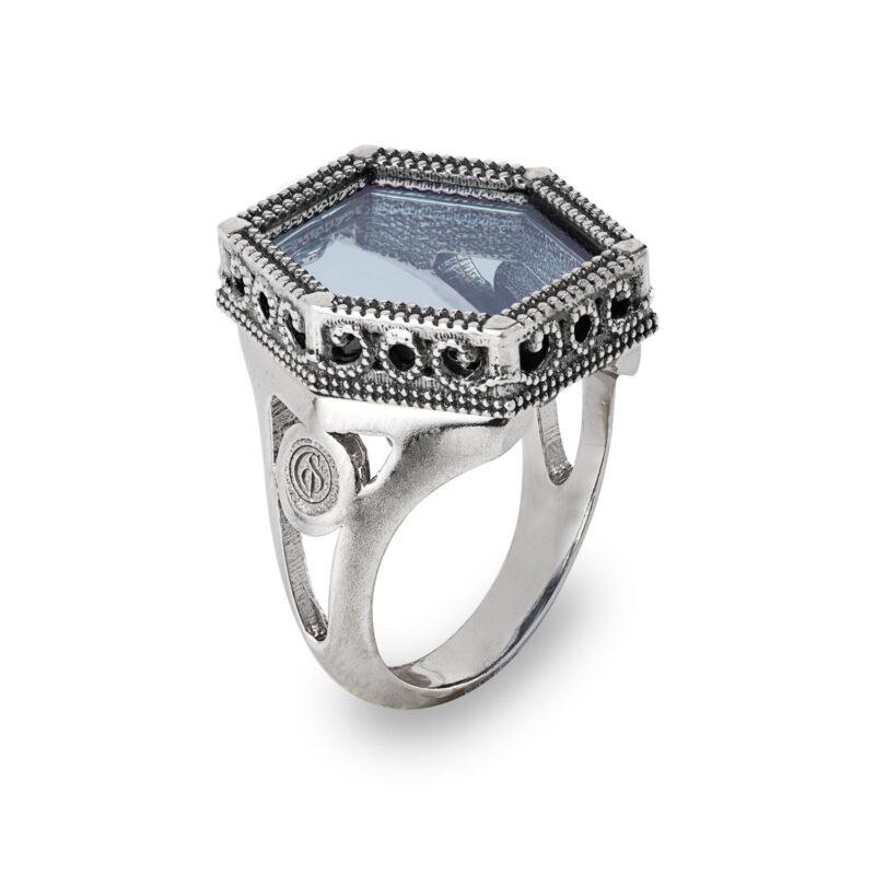 anello in argento e pietre colorate 28023