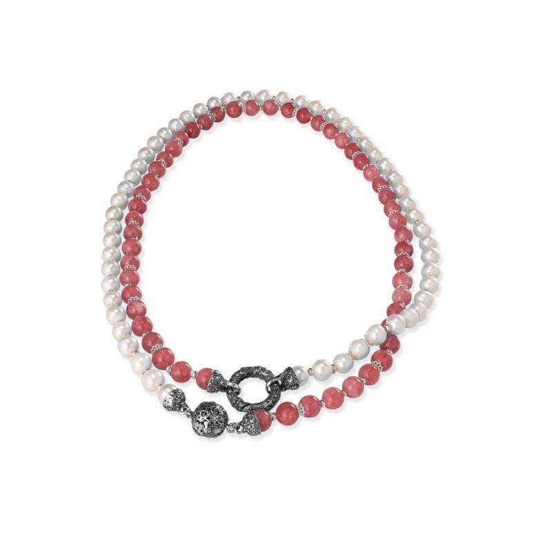collana con perle e pietre 28015 e1605051457599