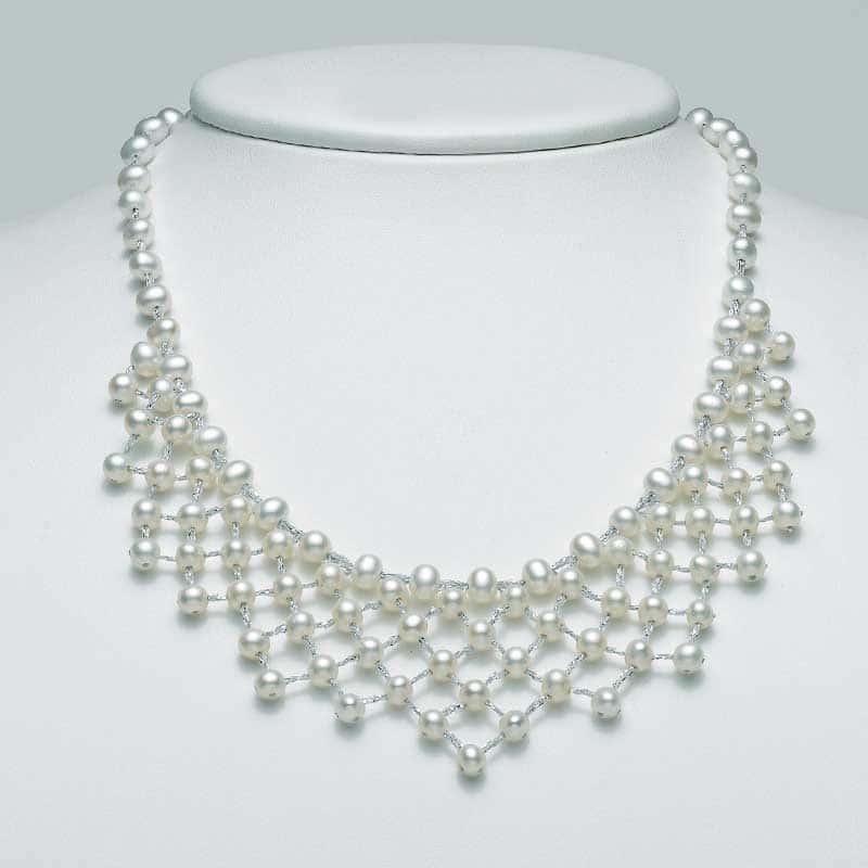 collana miluna pcl5099 filo di perle e argento