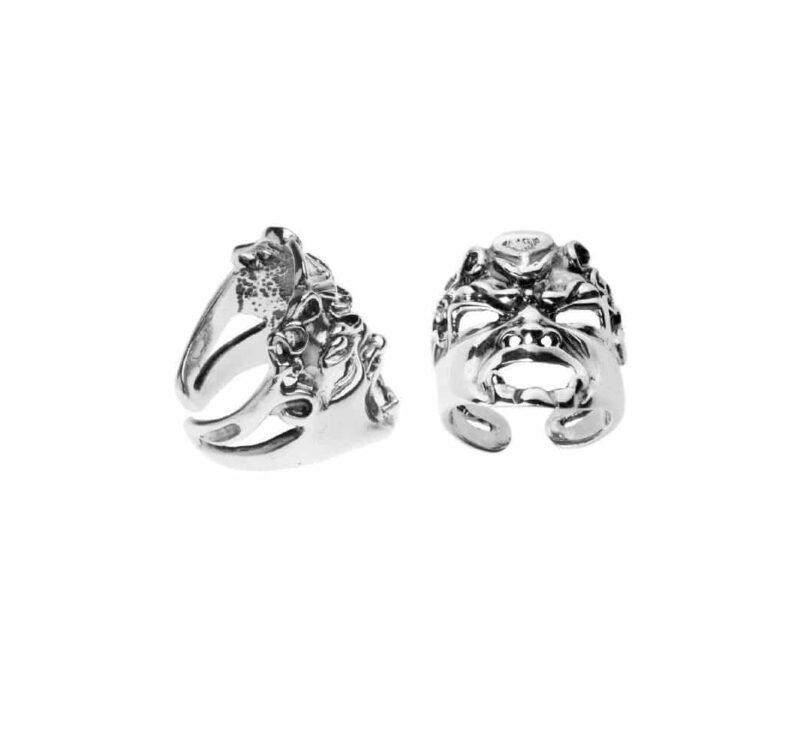 anello in argento con maschera 27577 e1614106631352