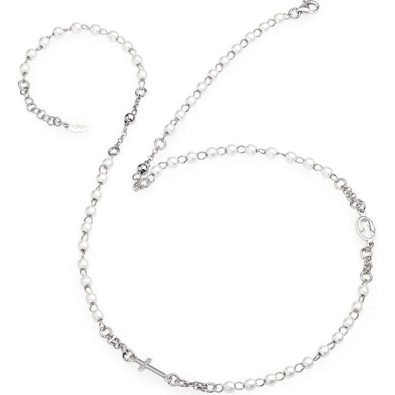 collana donna gioielli amen rosario crobb3 71967