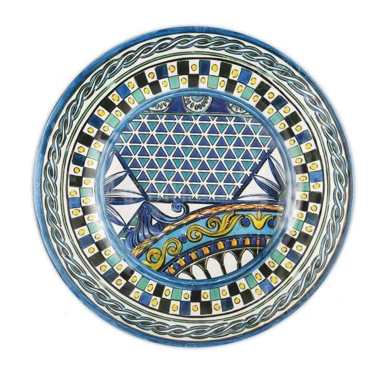 piatto dessert melamine con decori blu linea baroque and rock sicily blu baci milano e1613662335116