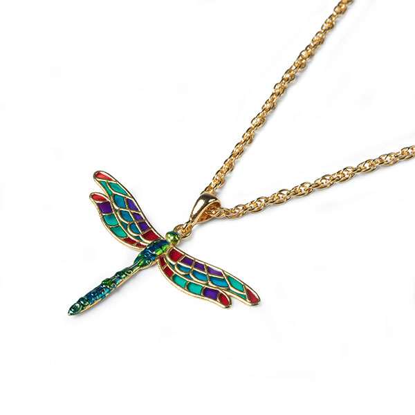 pendente libellula dorata smaltata1