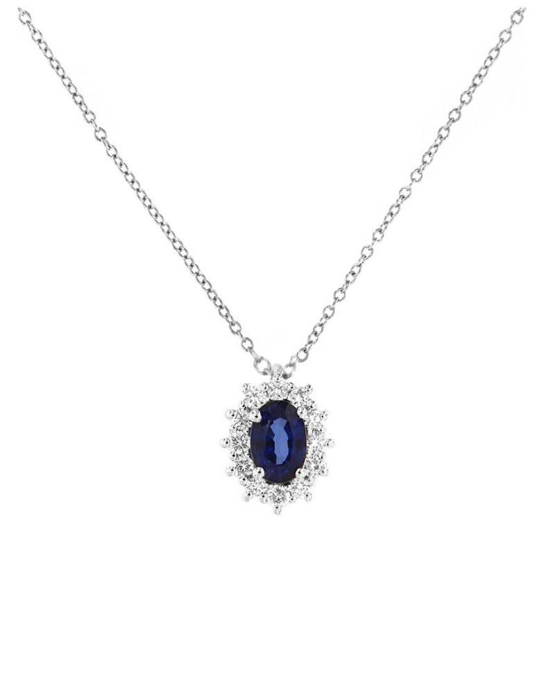 collana davite delucchi donna in oro bianco con diamanti e zaffiro 1 e1617902223423