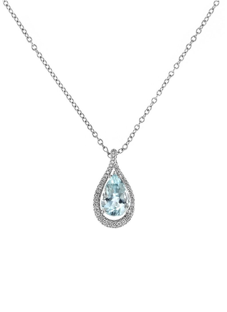 collana davite delucchi donna in oro bianco goccia con diamanti e acquamarina e1617954954164